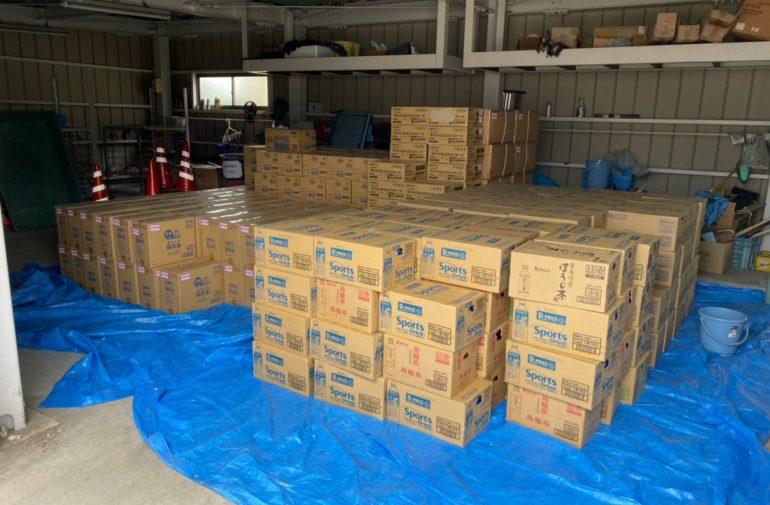 関西エコリサイクルが飲料水1500本を支援物資へ